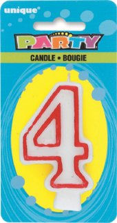 Number 4 Birthday Cake Candle