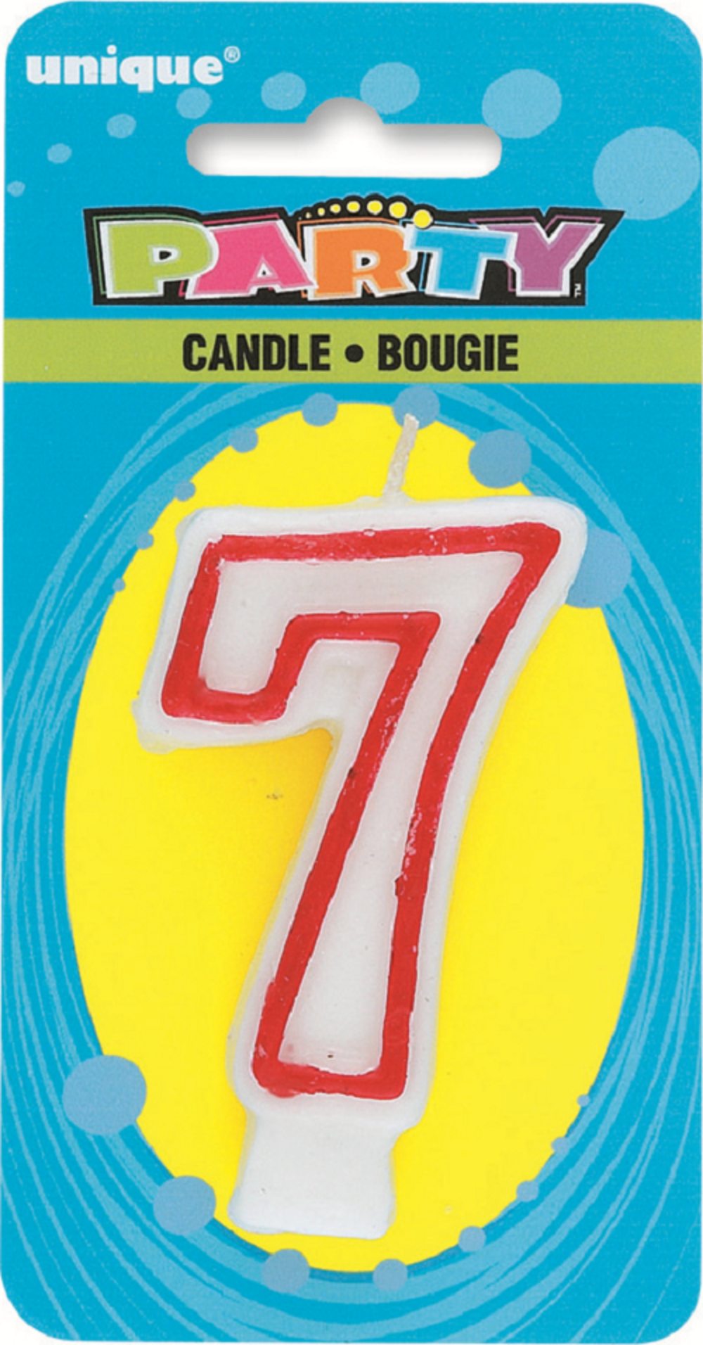 Number 7 Birthday Cake Candle