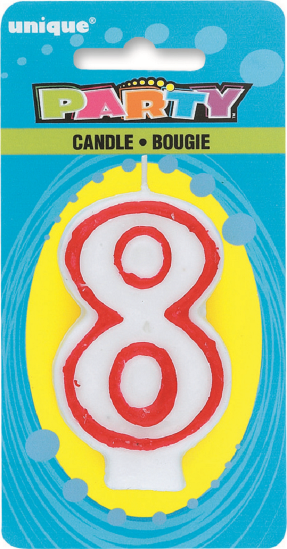 Number 8 Birthday Cake Candle