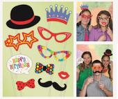 Happy Birthday Photo Booth Photo Props Party Kit
