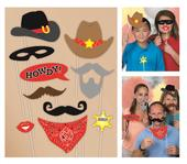 Cowboy Photo Booth Photo Props Party Kit