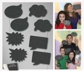 Chalk Board Speech Bubbles Photo Booth Photo Props Party Kit