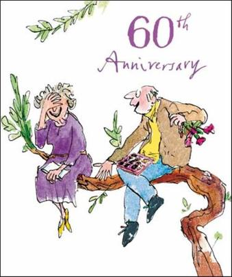 Quentin Blake 60th Anniversary Greeting Card