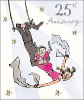 Quentin Blake 25th Anniversary Greeting Card