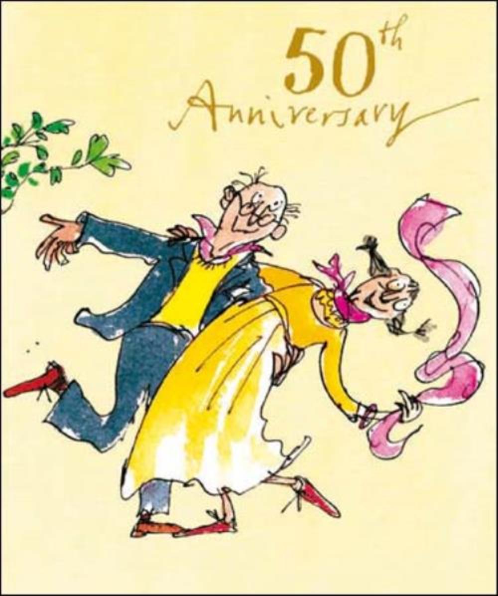 Quentin Blake 50th Anniversary Greeting Card