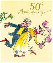 Quentin Blake 50th Anniversary Greeting Card