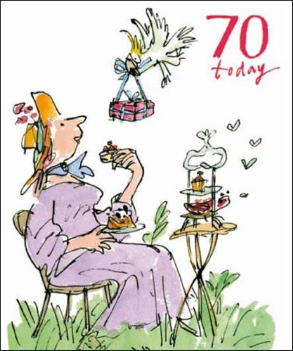 Quentin Blake 70th Birthday Greeting Card Cards Love Kates