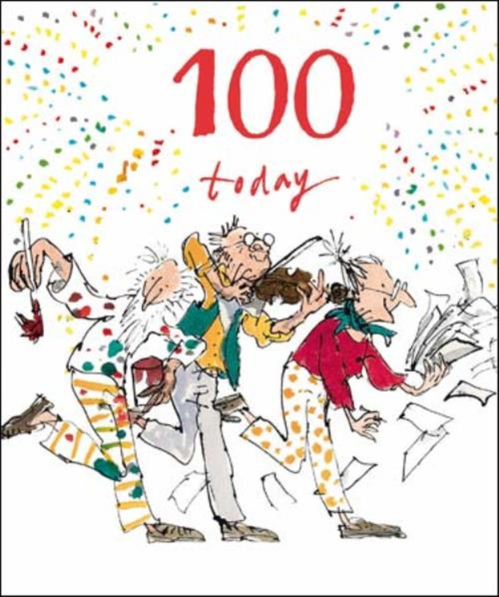 Quentin Blake 100th Birthday Greeting Card