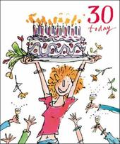 Quentin Blake 30th Birthday Greeting Card