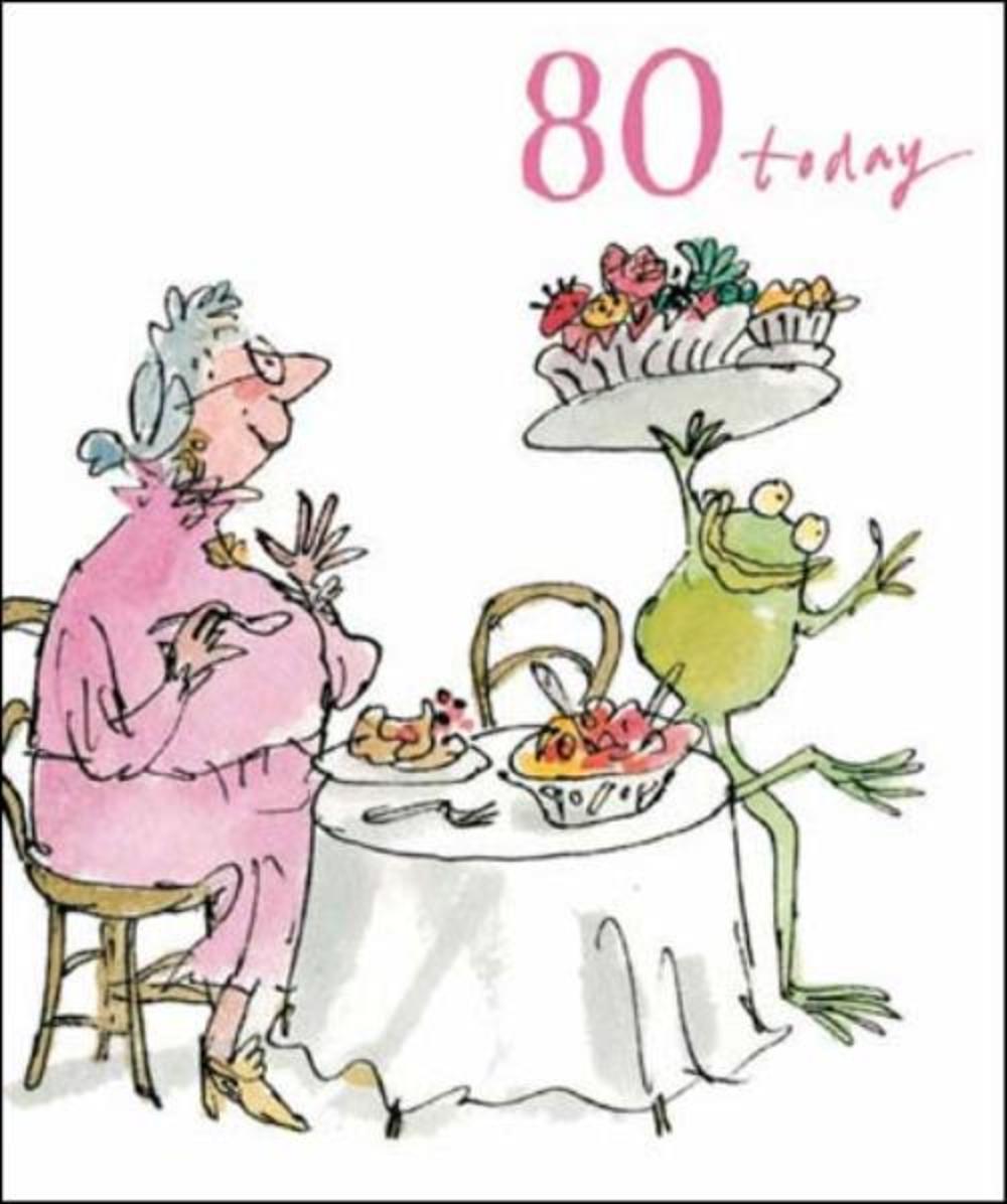 Quentin Blake 80th Birthday Greeting Card