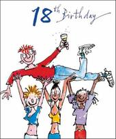 Quentin Blake 18th Birthday Greeting Card