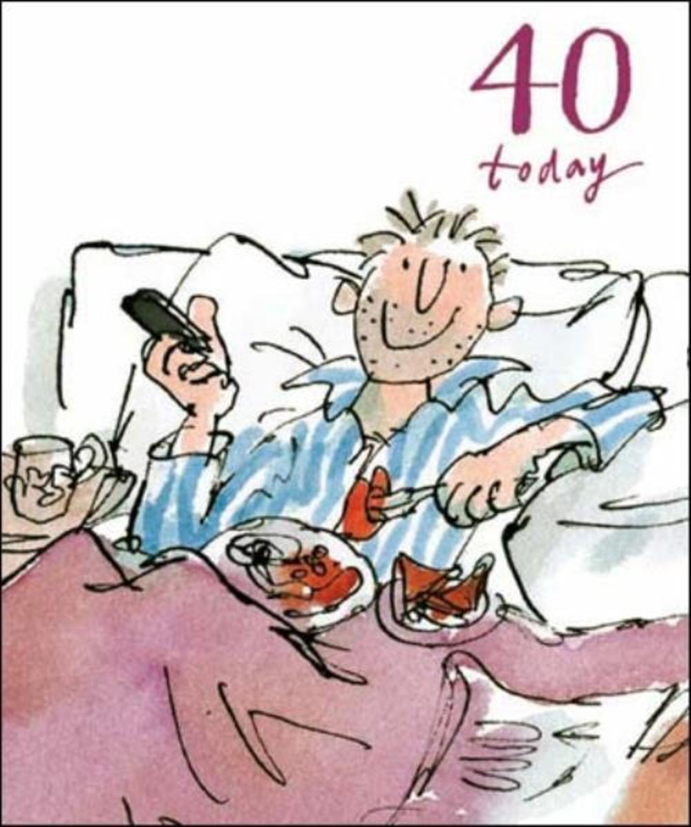 Quentin Blake 40th Birthday Greeting Card | Cards | Love Kates