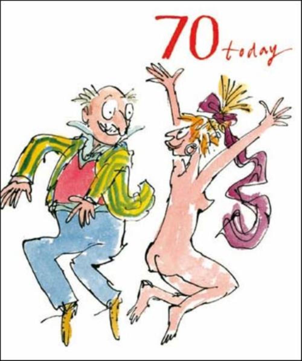 Quentin Blake 70th Birthday Greeting Card