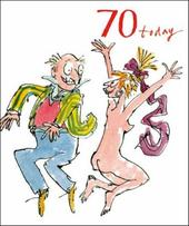 Quentin Blake 70th Birthday Greeting Card