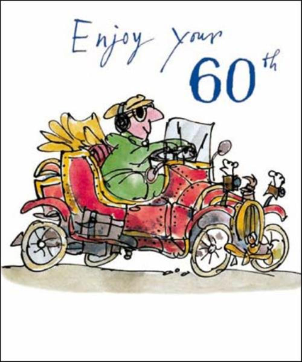 Quentin Blake 60th Birthday Greeting Card