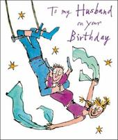 Quentin Blake Husband Birthday Greeting Card