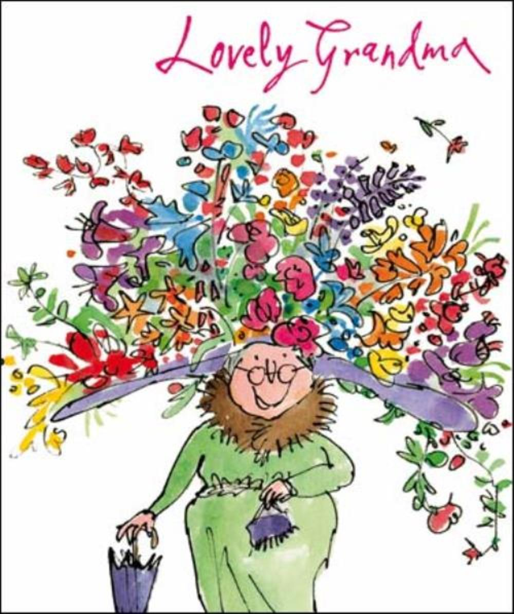 Quentin Blake Grandma Birthday Greeting Card