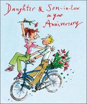 Quentin Blake Daughter & Son-In-Law Anniversary Greeting Card