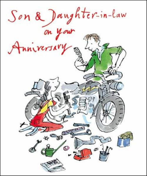 Quentin blake son daughter in law anniversary greeting