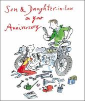 Quentin Blake Son & Daughter-In-Law Anniversary Greeting Card