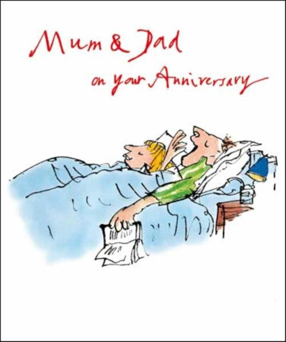 Quentin Blake Mum & Dad Anniversary Greeting Card