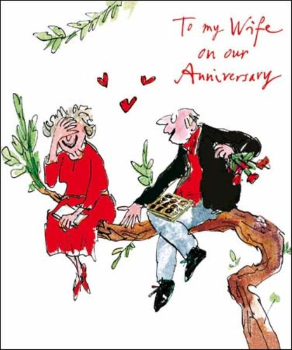 Quentin Blake Wife Anniversary Greeting Card Cards