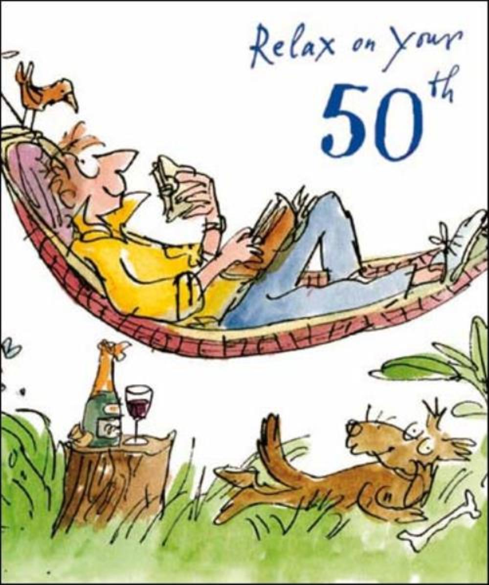 Quentin Blake 50th Birthday Greeting Card