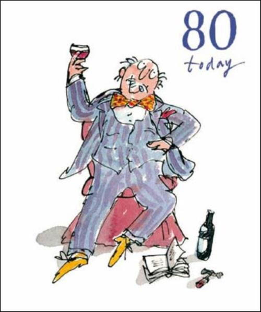 Quentin Blake 80th Birthday Greeting Card