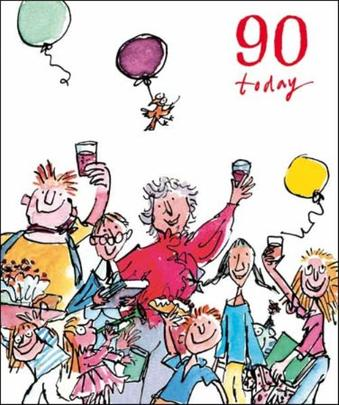 Quentin Blake 90th Birthday Greeting Card