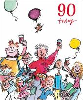 Quentin Blake 90th Birthday Greeting Card