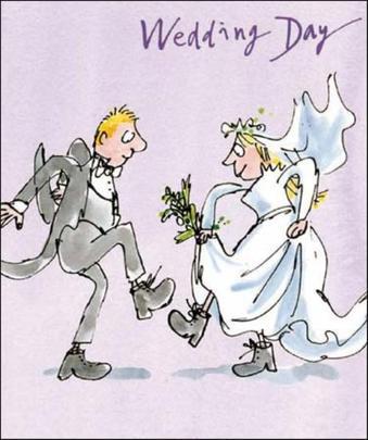 Quentin Blake Wedding Day Greeting Card