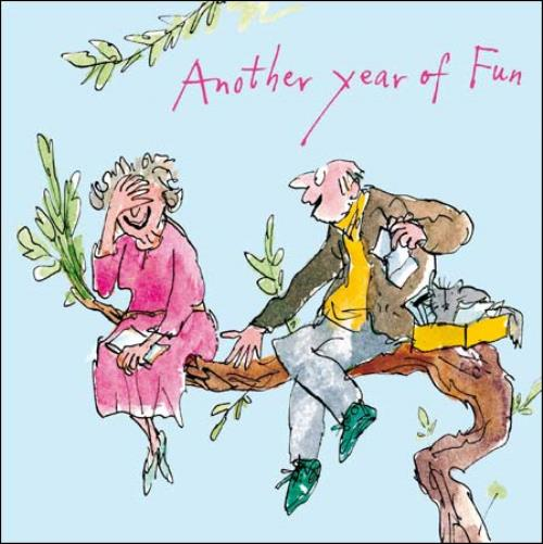 Quentin Blake Happy Anniversary Greeting Card Cards