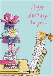 Quentin Blake Girls Birthday Greeting Card
