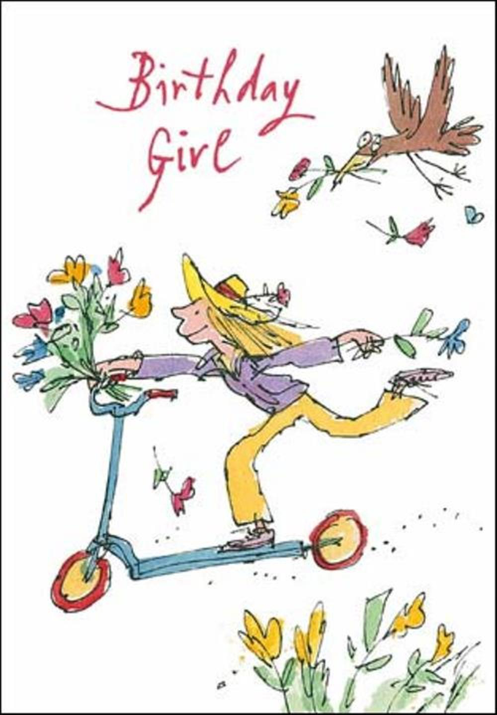 Quentin Blake Birthday Girl Greeting Card
