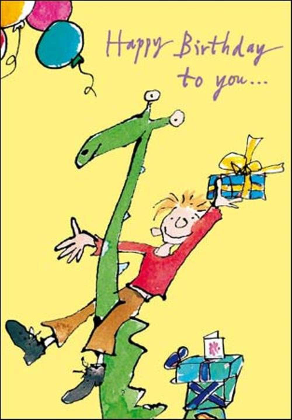 Quentin Blake Childrens Birthday Greeting Card
