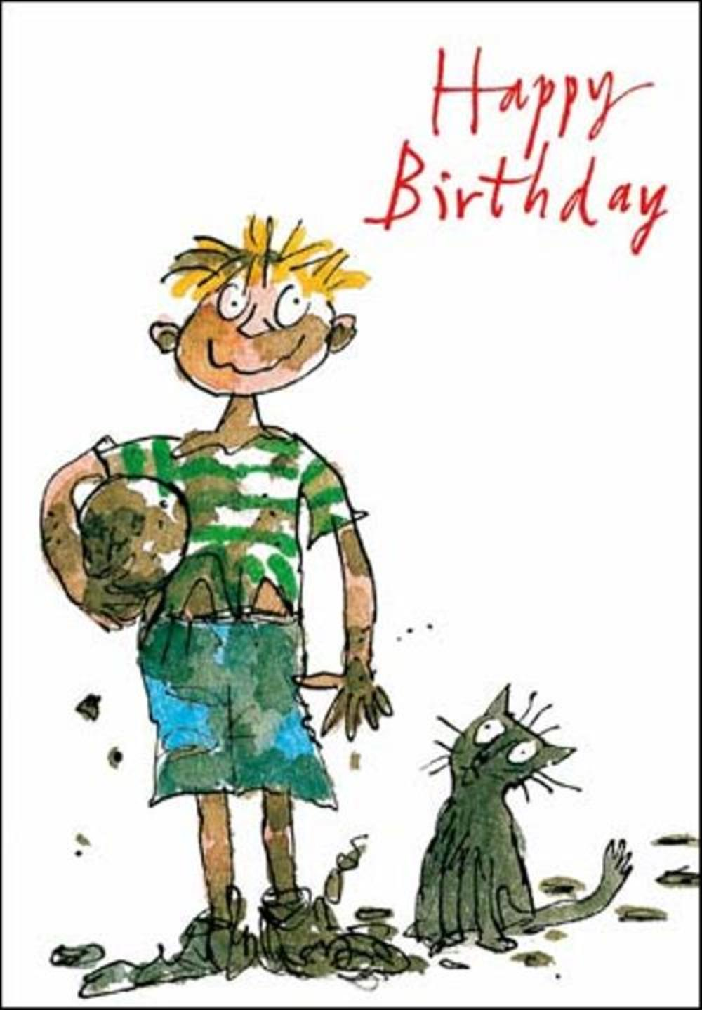 Quentin Blake Boys Birthday Greeting Card