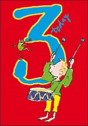 Quentin Blake Boys 3rd Birthday Greeting Card