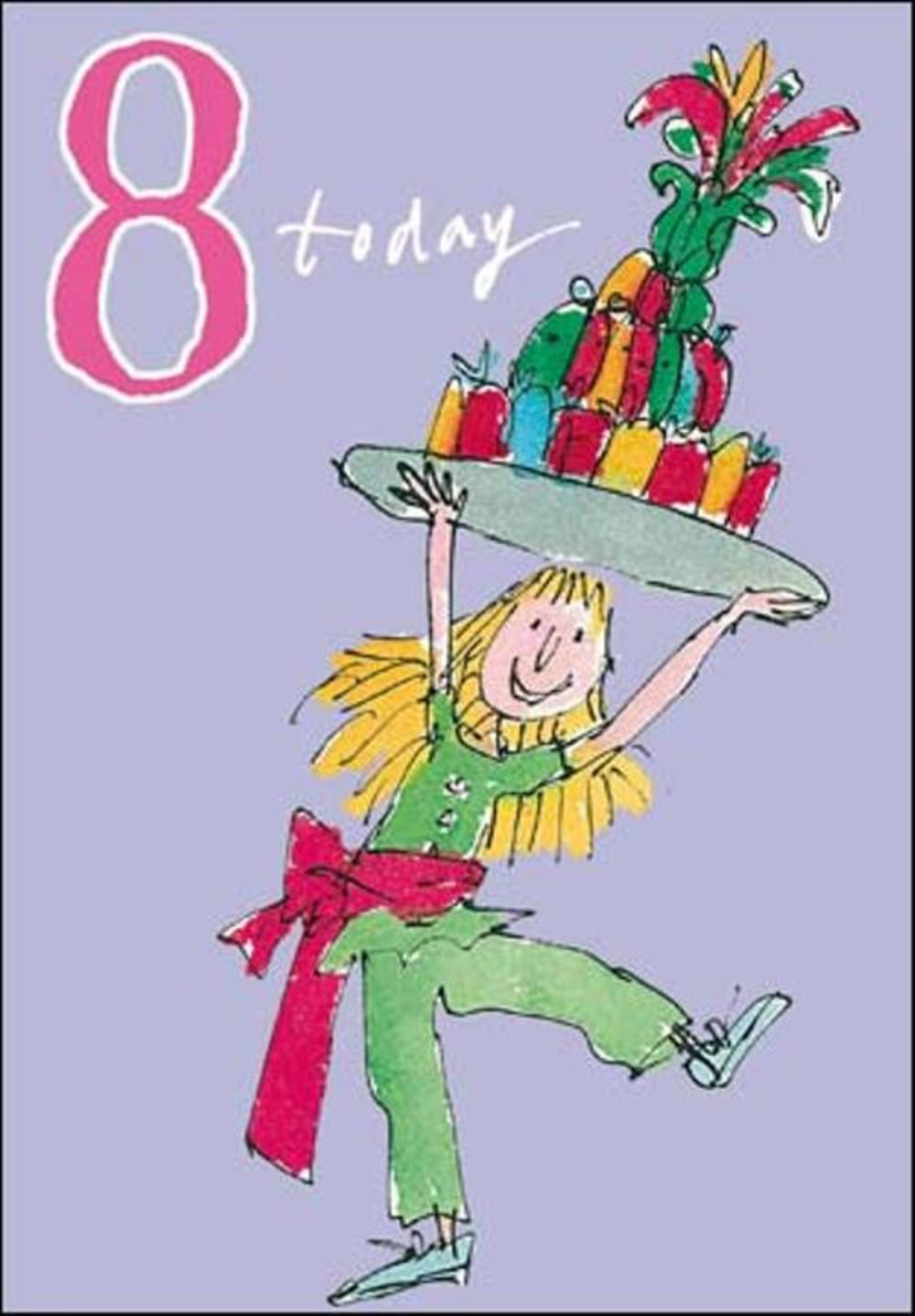 Quentin Blake Girls 8th Birthday Greeting Card