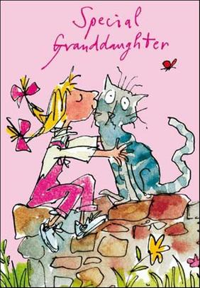 Quentin Blake Granddaughter Birthday Greeting Card