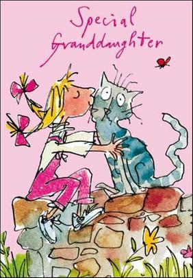 Quentin Blake Granddaughter Birthday Greeting Card