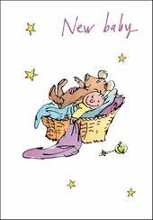 Quentin Blake New Baby Congratulations Greeting Card