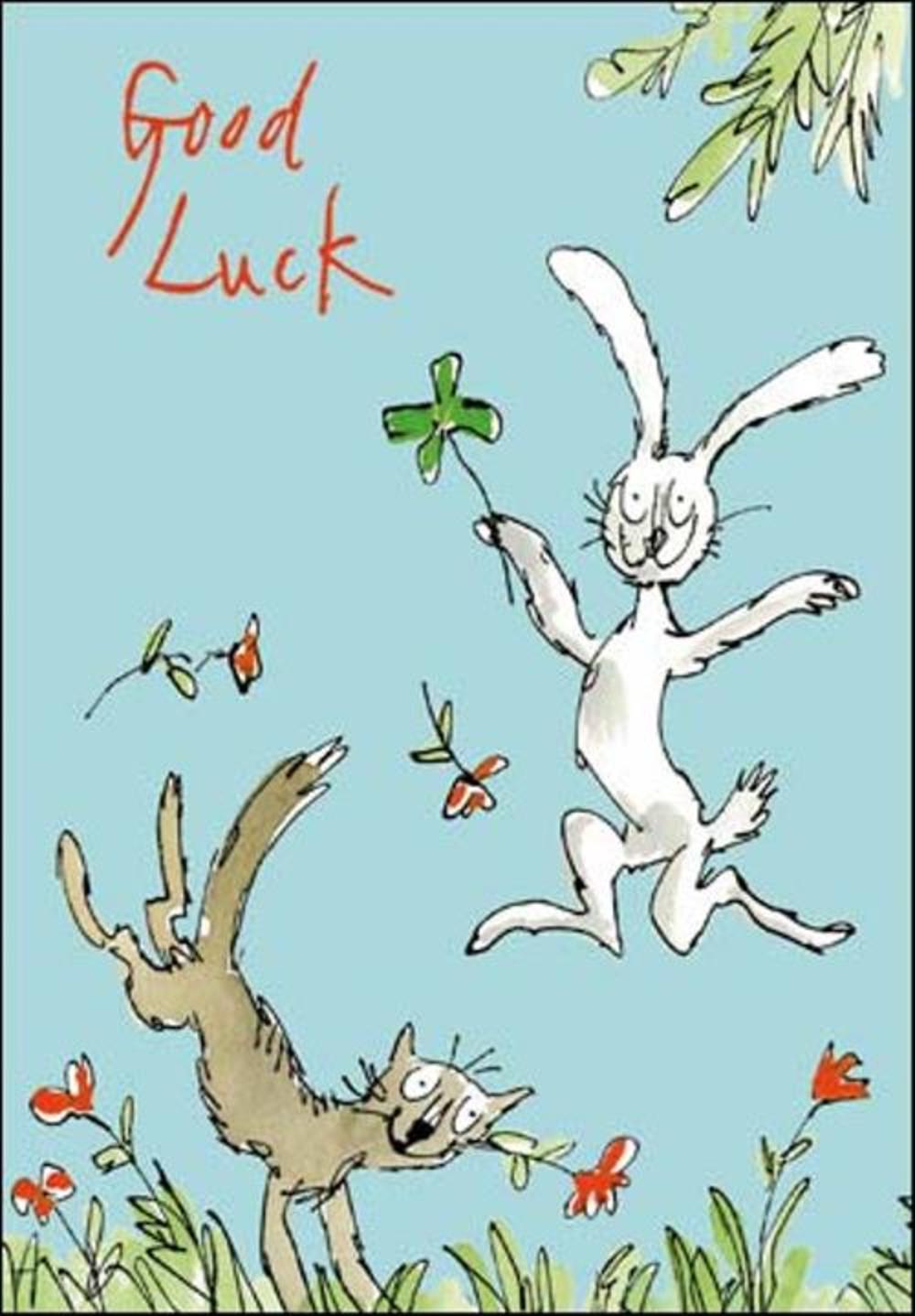 Quentin Blake Good Luck Greeting Card