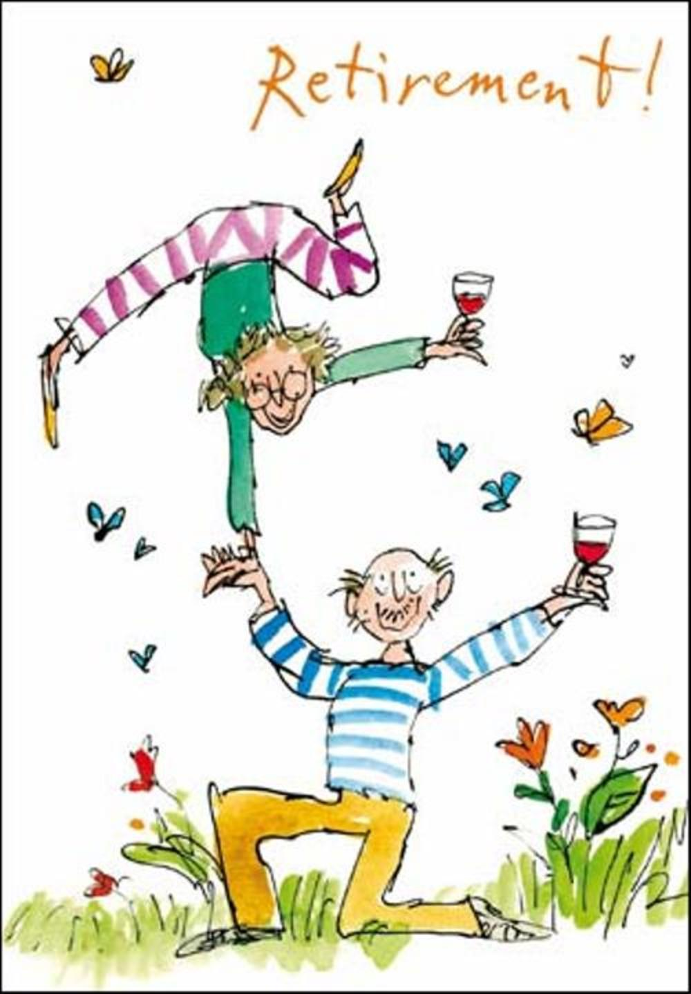 Quentin Blake Retirement Greeting Card