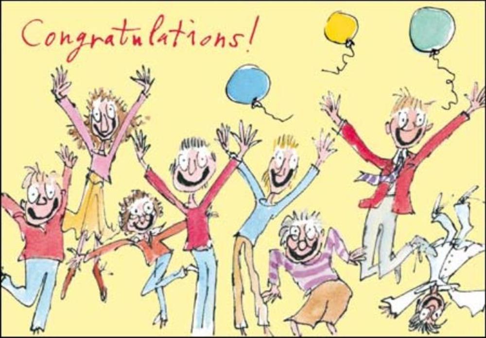 Quentin Blake Congratulations Greeting Card
