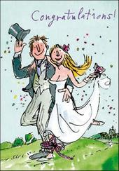 Quentin Blake Wedding Congratulations Greeting Card