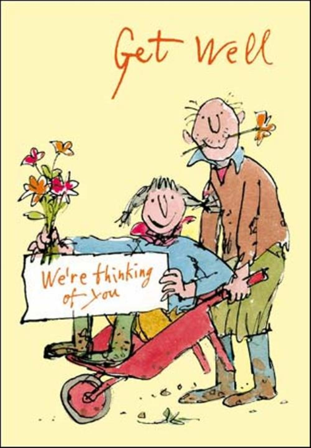 Quentin Blake Get Well Soon Greeting Card Cards Love Kates