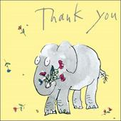 Quentin Blake Small Square Thank You Greeting Card