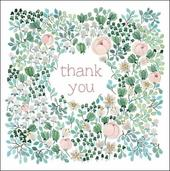Pack of 5 Small Square Thank You Greeting Cards