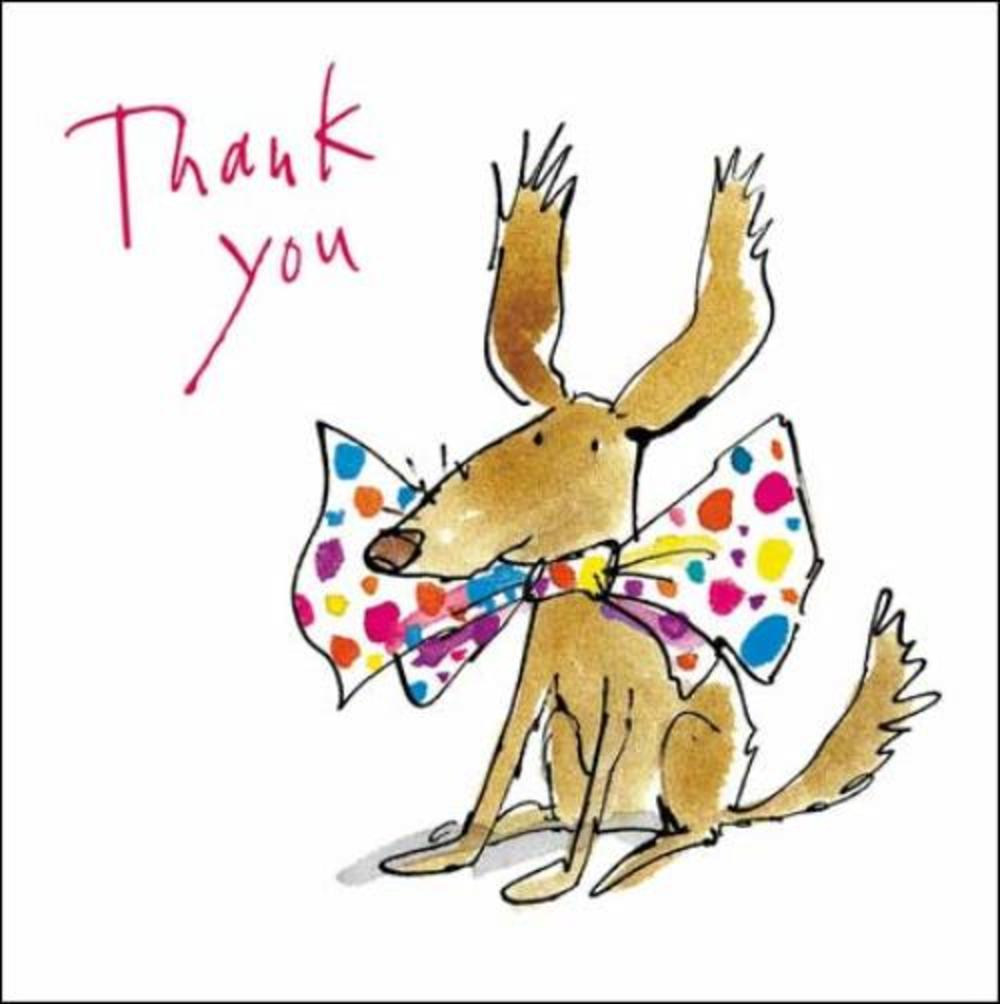 Fantastic Pack of 5 Small Square Quentin Blake Thank You Greeting Cards  FO97
