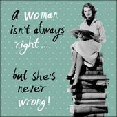 Not Always Right But Never Wrong Retro Humour Birthday Card